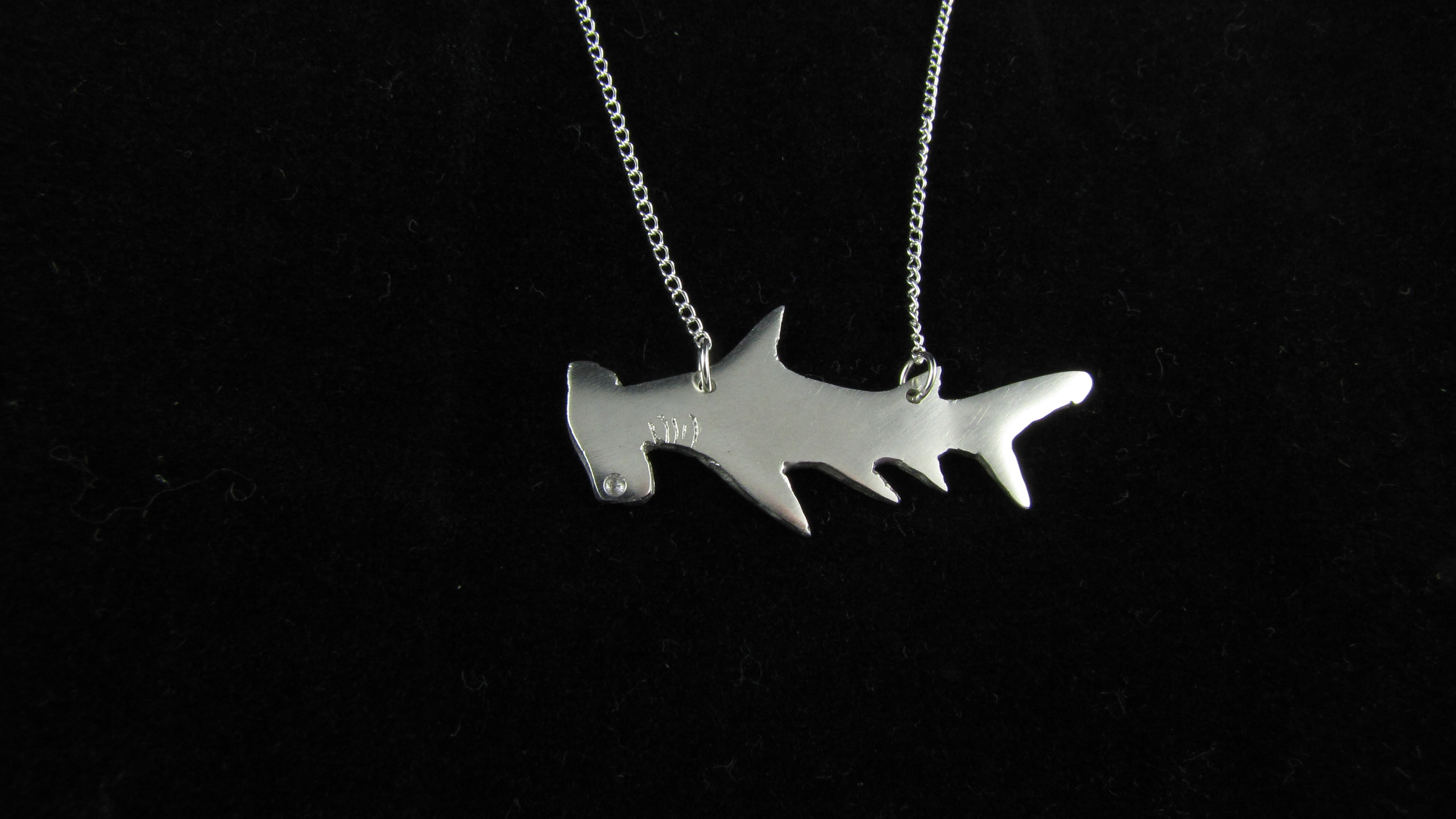 miniature spray fullxfull art stencil necklace il and zoom listing hammerhead shark paint
