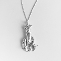 small lobster necklace in solid silver
