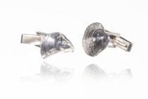 solid silver shell cufflinks